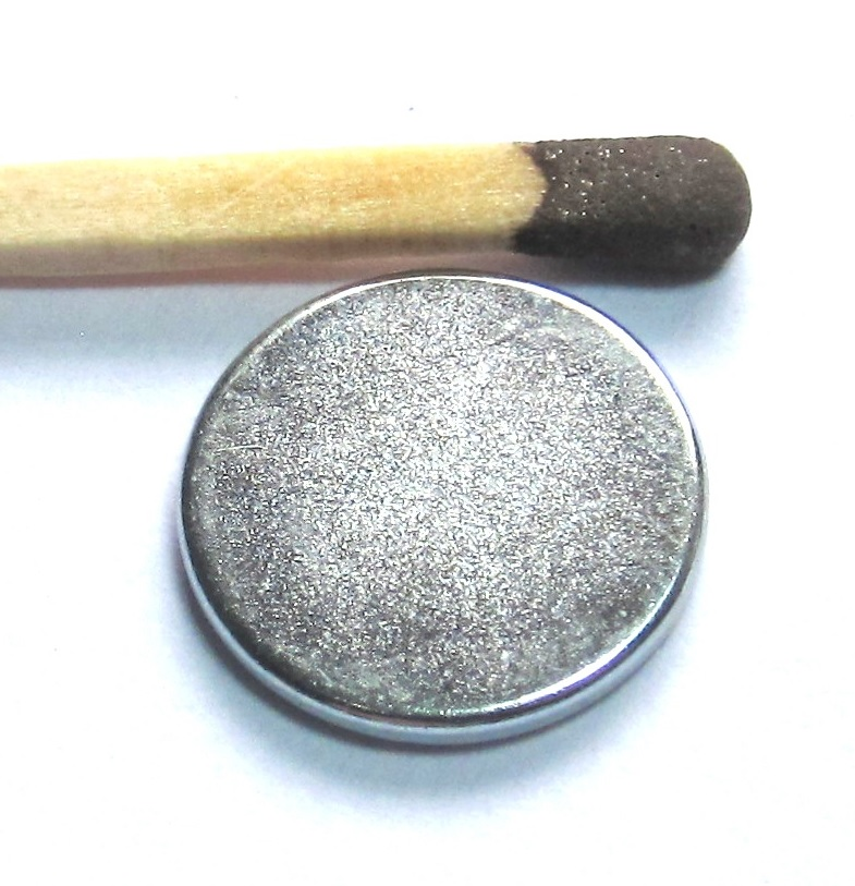Imã de Neodímio Disco N35 zinco 14x1,5 mm