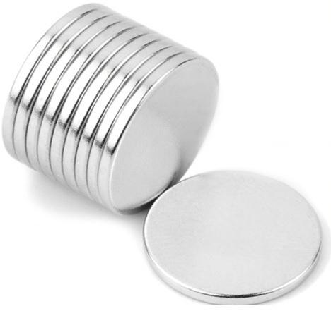 Imã de Neodímio Disco N35 12x1 mm  - Polo Magnético