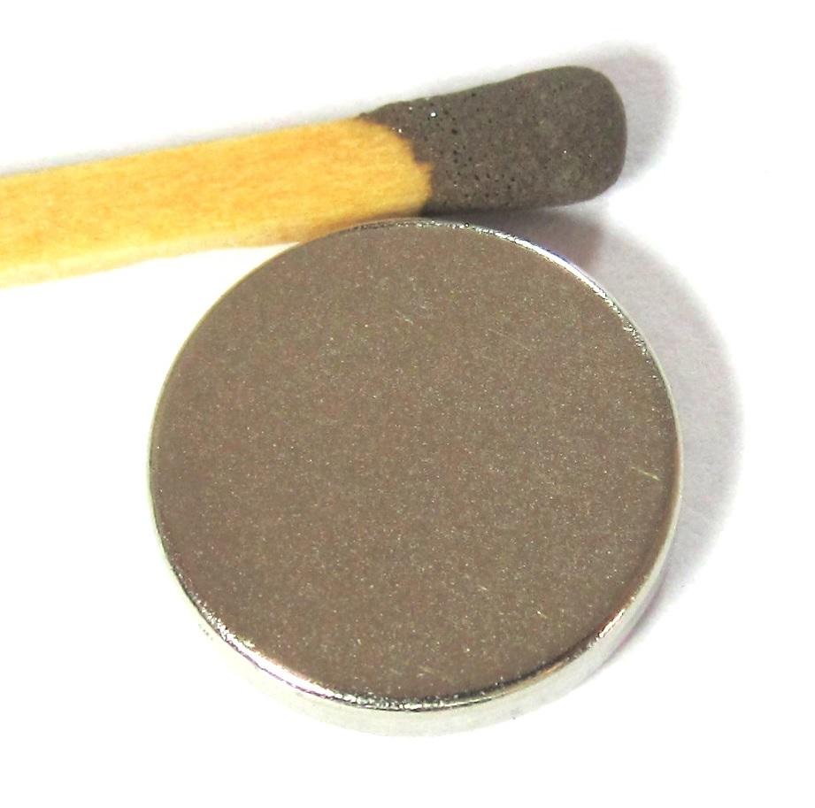 Imã de Neodímio Disco N35 14x2,5 mm  - Polo Magnético