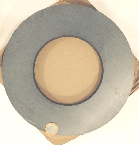 Imã de Ferrite Anel (cerâmica) Y30 280x150x25 mm  - Polo Magnético