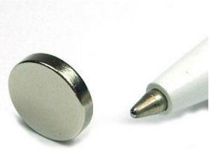 Ímã de Neodímio Disco N35 11x2 mm  - Polo Magnético
