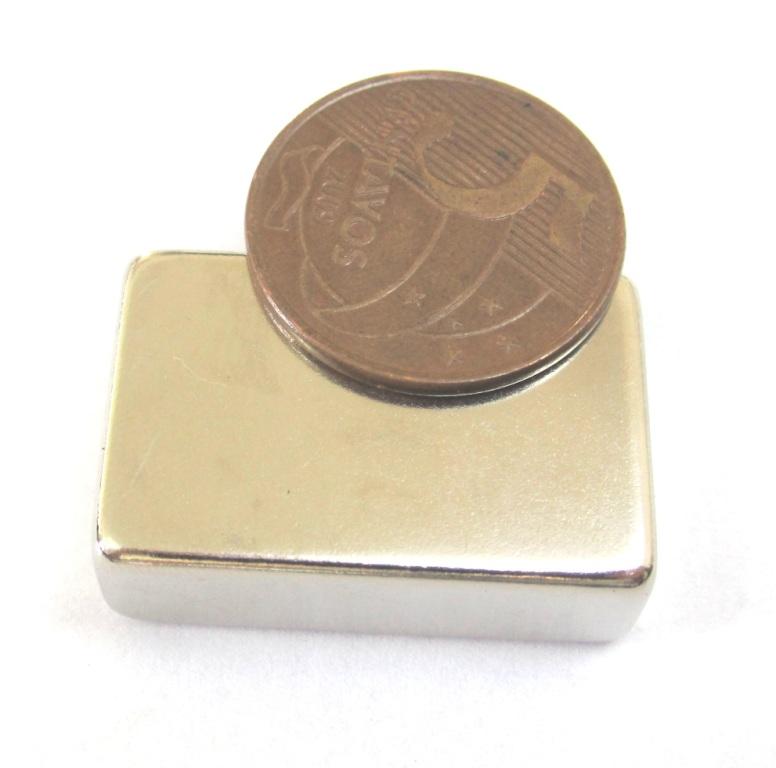 Imã de Neodímio Bloco N42 30x20x10 mm