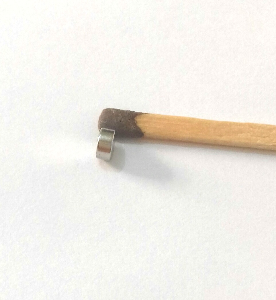 Imã de Neodímio Disco N35 4x2 mm  - Polo Magnético