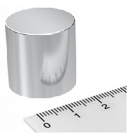 Imã de Neodímio Disco N42 22x20 mm  - Polo Magnético