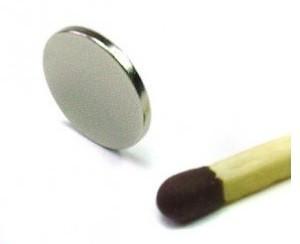 Ímã de Neodímio Disco N35 10x1 mm  - Polo Magnético