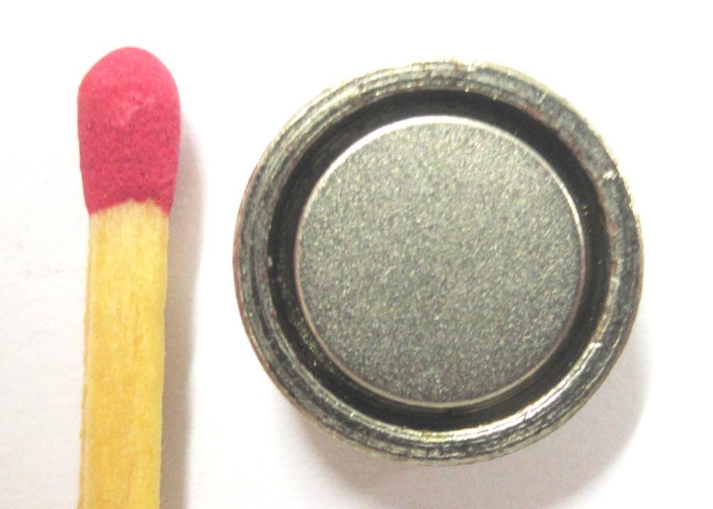 Imã de Neodímio Disco Com proteção 13x4,5 mm  - Polo Magnético