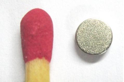 Imã de Neodímio Disco  N35 6x1,5 mm  - Polo Magnético