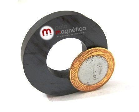 Imã de Ferrite Anel (cerâmica) Y25 45x22x8 mm