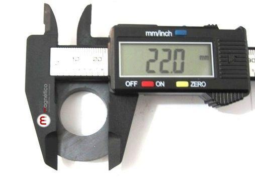 Imã de Ferrite Anel (cerâmica) Y25 45x22x8 mm  - Polo Magnético