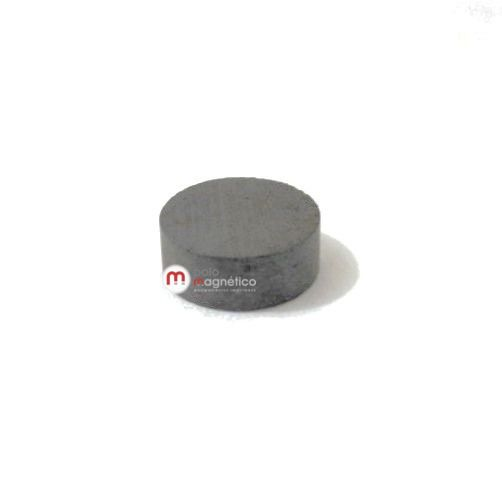 Imã de Ferrite Disco (cerâmica) Y30 8x3 mm  - Polo Magnético
