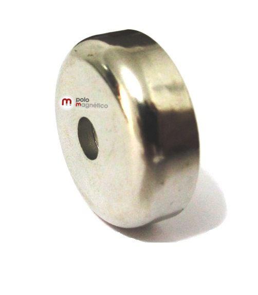 Imã de Neodímio 25 mm com furo