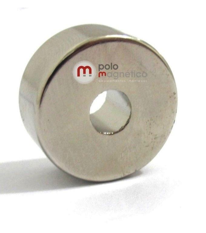Imã de Neodímio Anel N35 22x6,35x10 mm Zinco