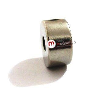 Imã de Neodímio Anel N35 22x6,35x5 mm  - Polo Magnético