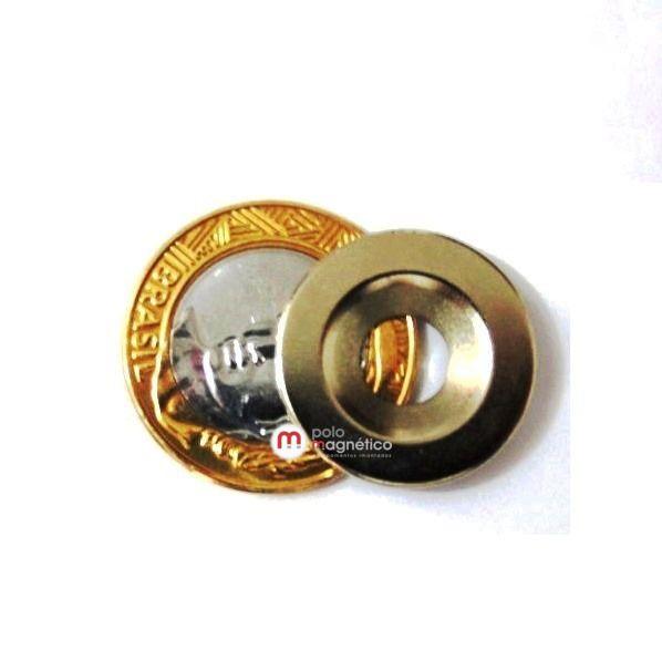 Imã de Neodímio Anel N35 23x14x8x3 mm escareado  - Polo Magnético