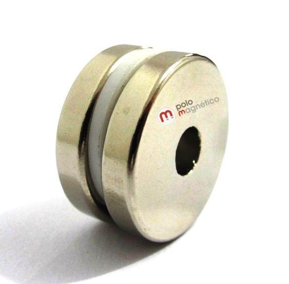 Imã de Neodímio Anel N35 25x6,35x5 mm  - Polo Magnético