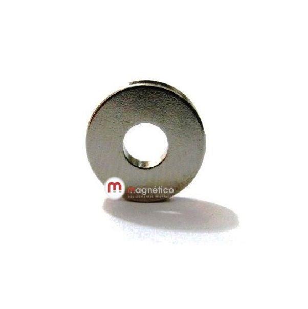 Imã de Neodímio Anel N35 9,5x3,5x1,5 mm  - Polo Magnético