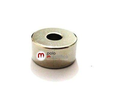 Imã de Neodímio Anel N42 20x6,35x10 mm  - Polo Magnético