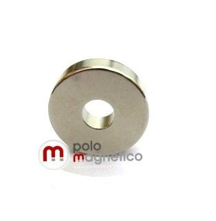 Imã de Neodímio Anel N42 20x6,35x5 mm