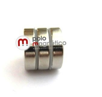 Imã de Neodímio Anel N42 20x6,35x5 mm  - Polo Magnético