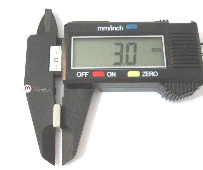 Imã de Neodímio Bloco N35 10x10x3 mm  - Polo Magnético