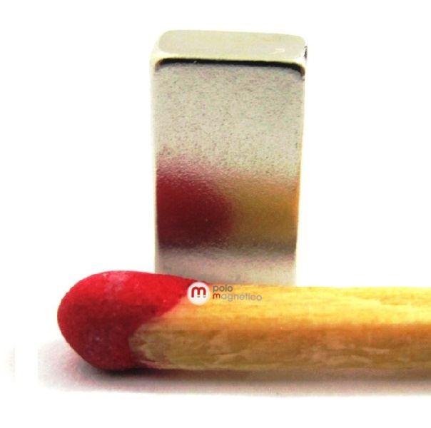 Imã de Neodímio Bloco N35 10x6x3 mm  - Polo Magnético