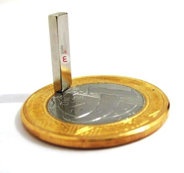 Imã de Neodímio Bloco N35 15x4x2 mm  - Polo Magnético