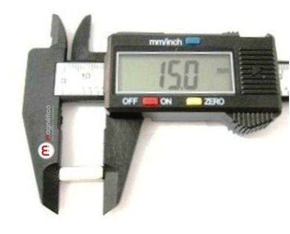 Imã de Neodímio Bloco N35 15x5x5 mm  - Polo Magnético