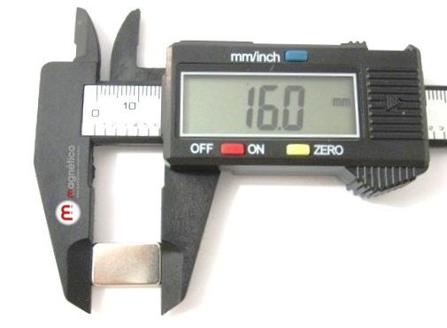 Imã de Neodímio Bloco N35 16x10x4 mm  - Polo Magnético