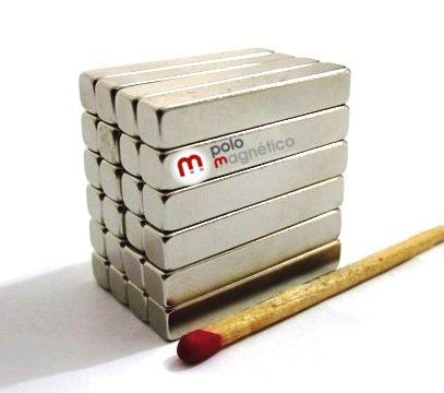 Imã de Neodímio Bloco N35 30x5x5 mm  - Polo Magnético