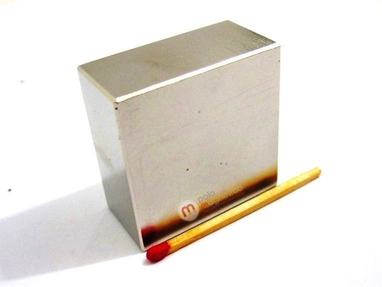 Imã de Neodímio Bloco N35 40x40x20 mm