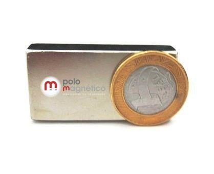 Imã de Neodímio Bloco N35 50x20x10 mm  - Polo Magnético