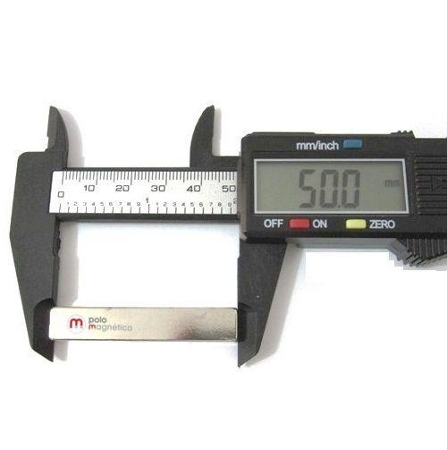 Imã de Neodímio Bloco N35 50x9x9 mm  - Polo Magnético