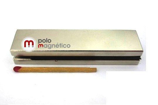 Imã de Neodímio Bloco N35 80x20x5 mm  - Polo Magnético