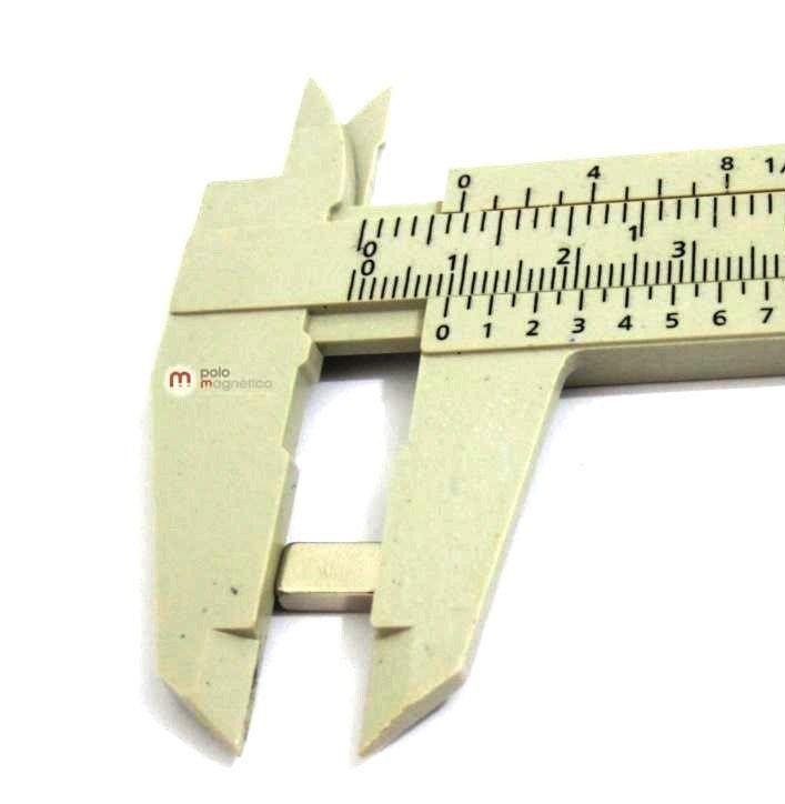 Imã de Neodímio Bloco N35 9x5x3 mm  - Polo Magnético