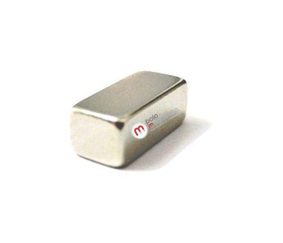 Imã de Neodímio Bloco N38 10x5x4 mm  - Polo Magnético