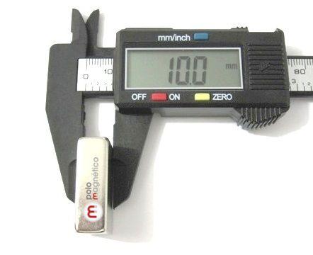 Imã de Neodímio Bloco N42 30x20x10 mm  - Polo Magnético