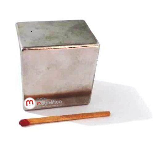 Imã de Neodímio Bloco N42 40x40x30 mm  - Polo Magnético