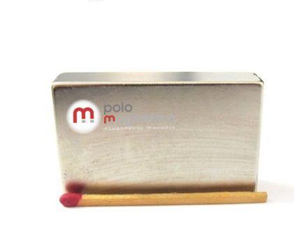 Imã de Neodímio Bloco N42 50x30x12 mm  - Polo Magnético
