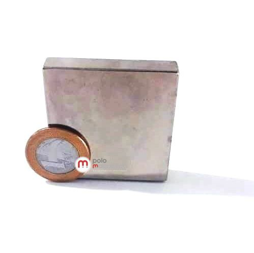 Imã de Neodímio Bloco N48 50x50x10 mm