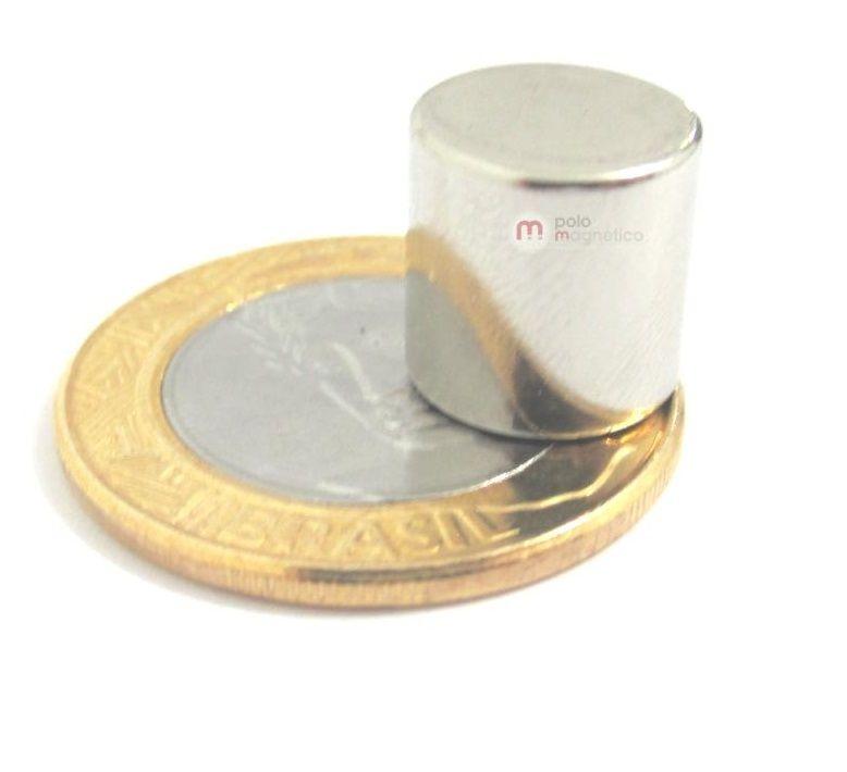 Imã de Neodímio Cilindro N35 12x12 mm