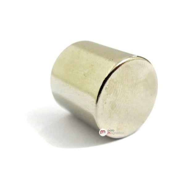 Imã de Neodímio Cilindro N35 14x14 mm
