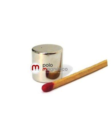 Imã de Neodímio Cilindro N35 14x14 mm  - Polo Magnético