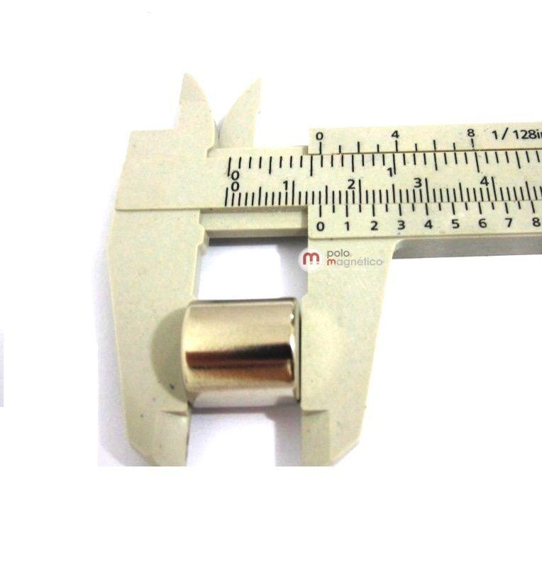 041a98afe26 ìmã de neodímio 14x14 mm N35  Cilindro  Polo Magnético  ímã  ímã de ...