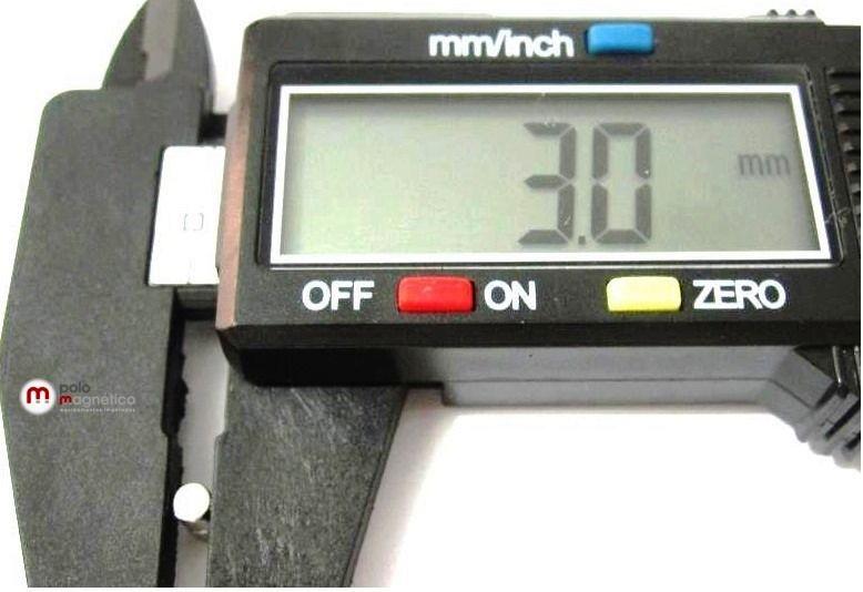 Imã de Neodímio Cilindro N35 3x3 mm  - Polo Magnético
