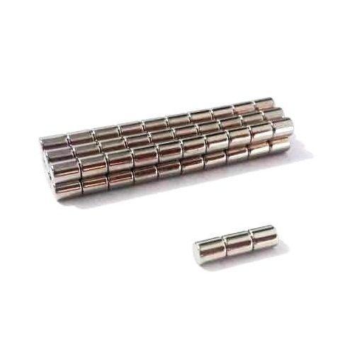 Imã de Neodímio Cilindro N35 4x5 mm  - Polo Magnético