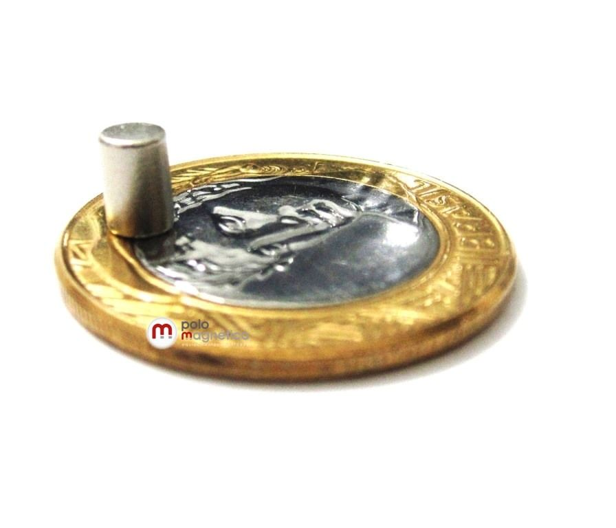Imã de Neodímio Cilindro N35 4x6 mm