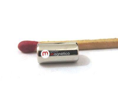 Imã de Neodímio Cilindro N35 5x10 mm  - Polo Magnético