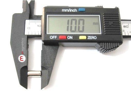 a6cb26e9188 ìmã de neodímio 5x10 mm N35  Cilindro  Polo Magnético  ímã  ímã de ...