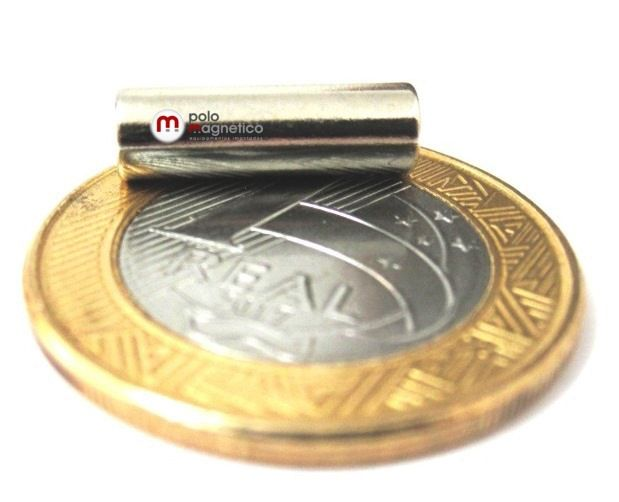 Ímã de Neodímio Cilindro N35 5x16 mm  - Polo Magnético