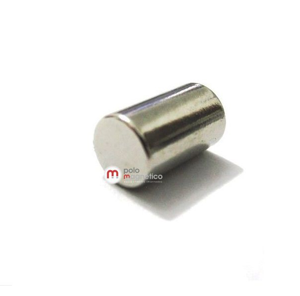 Imã de Neodímio Cilindro N35 6x10 mm